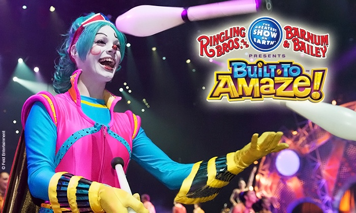 "Ringling Bros. and Barnum & Bailey Presents ""Built to Amaze"" - Moda Center: Ringling Bros. and Barnum & Bailey Presents Built To Amaze! at Moda Center on September 18–20 (Up to 40% Off)"