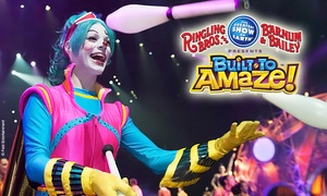 "Ringling Bros. and Barnum & Bailey Presents ""Built to Amaze"": Ringling Bros. and Barnum & Bailey Presents Built To Amaze! at Moda Center on September 18–20 (Up to 40% Off)"