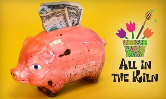 All In the Kiln - Downtown Walnut Creek: $19 for $40 Worth of Paint-Your-Own Pottery at All In The Kiln in Walnut Creek