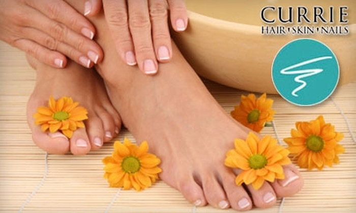 Currie Hair, Skin & Nails - Multiple Locations: $35 for Manicure and Pedicure at Currie Hair, Skin & Nails ($75 Value). Choose From Four Locations.
