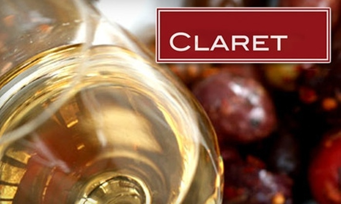 Claret Wine Bar - Sunnyside: $10 for $20 Worth of Wine and Gourmet Fare at Claret Wine Bar