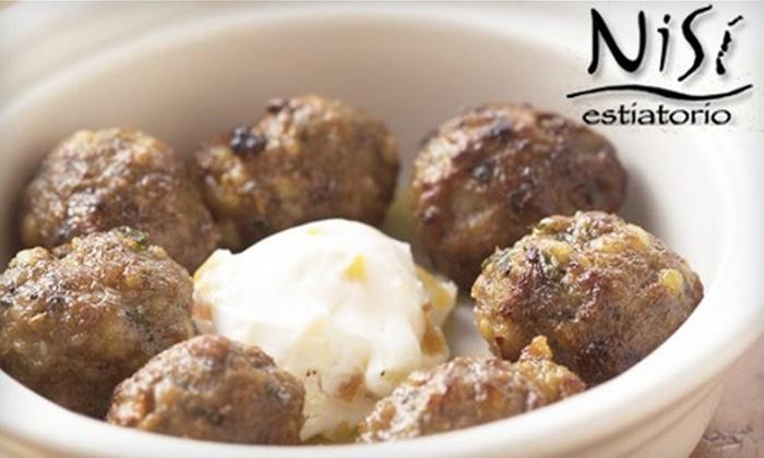 Nisi Estiatorio - Englewood: $30 for $60 Worth of Greek Eats and Drinks at Nisi Estiatorio