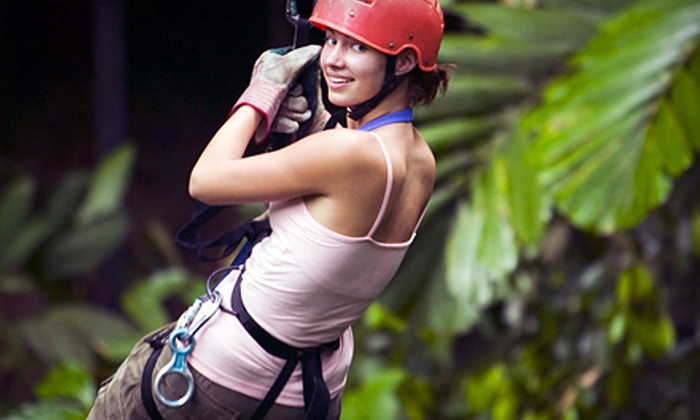 Don Strange Ranch - Boerne: Zipline Ride and Alpine Tower Climb with Optional Kayaking Trip at Don Strange Ranch (Up to 57% Off)