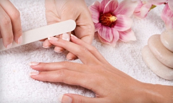 The Grotto Spa - Bloomfield: $13 for a Signature Manicure ($36.58 Value) or $20 for a Signature Green Tea Pedicure ($47.03 Value) at The Grotto Spa in Staten Island