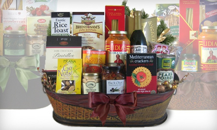 Half off gourmet gift baskets healthy gourmet gifts groupon customer reviews negle Choice Image
