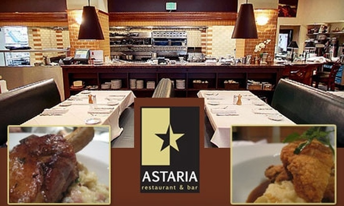 Astaria - Downtown: $20 for $40 Worth of Seasonal Fare and Drinks at Astaria in San Mateo