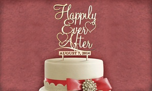 Natural Or Painted Wood Mr. And Mrs. Cake Topper With Custom Name And Date From Amonogram Art (half Off)