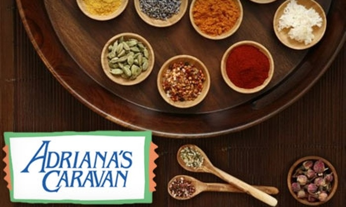 Adriana's Caravan: $10 for $20 Worth of Unique Spices, Herbs, and Condiments at Adriana's Caravan