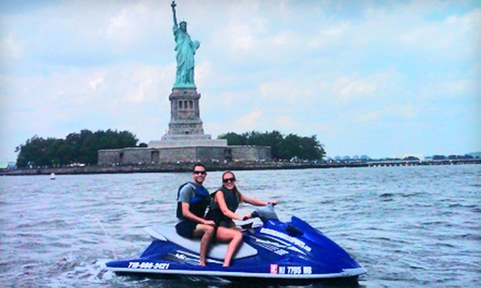 Blue Streak Water Sports - Gravesend: $119 for a 75-Minute WaveRunner Tour of the Statue of Liberty for Up to Two People from Blue Streak Water Sports ($250 Value)