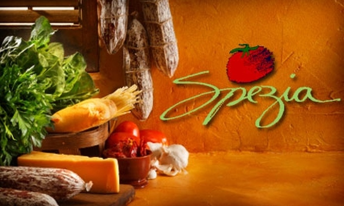 Spezia - Sioux Falls: $25 for $50 of Traditional Italian Cuisine and Drinks at Spezia