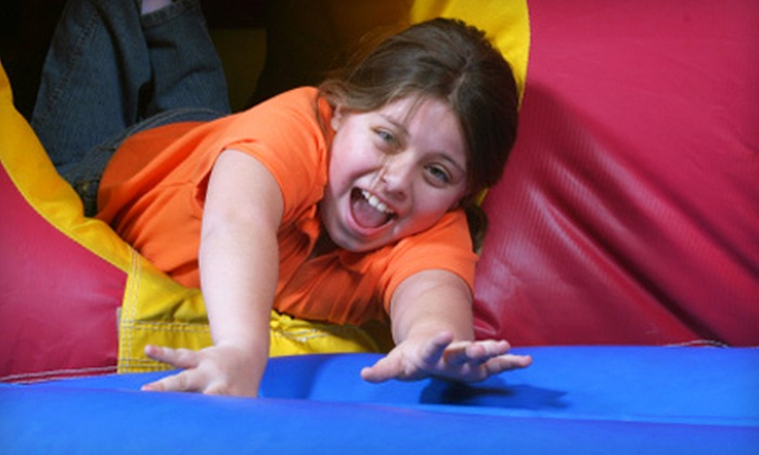 Bounce House - Multiple Locations: $16 for Four All-Day Play Passes, Four Sodas, and Four Bags of Chips at Bounce House (Up to $40 Value)