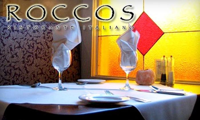 Rocco's Ristorante Italiano - Dartmouth Centre: Authentic Southern Italian Cuisine at Rocco's Ristorante Italiano. Choose Between Two Options.