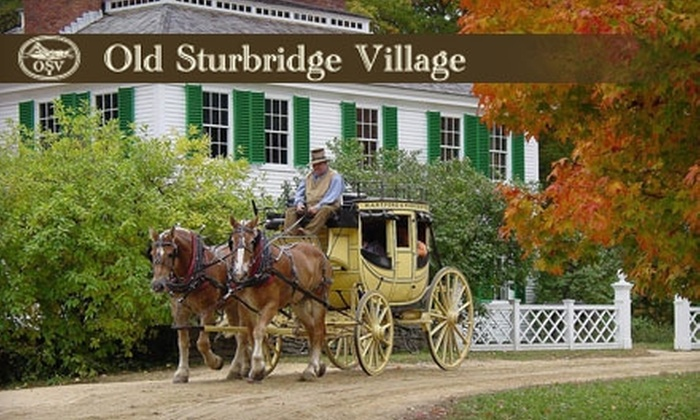 Old Sturbridge Village - Sturbridge: $10 for One Adult General Admission Ticket and Two Rides at Old Sturbridge Village (Up to $26 Value)
