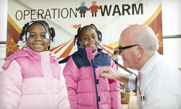 Operation Warm - Minneapolis / St Paul: If 40 People Donate $10, Then Operation Warm Can Provide Winter Coats for 40 Children. Donations Matched.