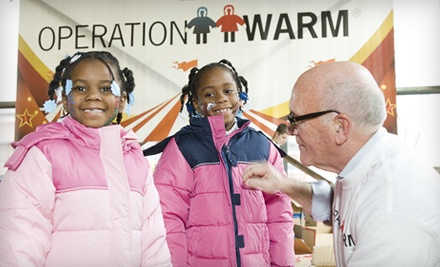$20 Donations to Operation Warm - Operation Warm in