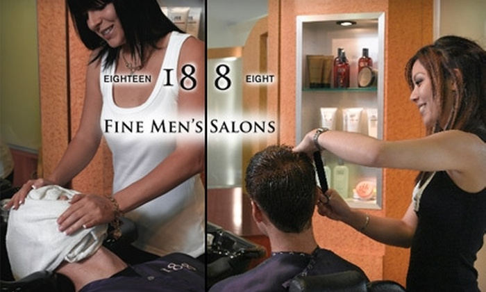 18|8 Mens Hair and Grooming Centre - Multiple Locations: $25 for Two Executive Haircuts at 18|8 Men's Hair and Grooming Centre ($74 Value)