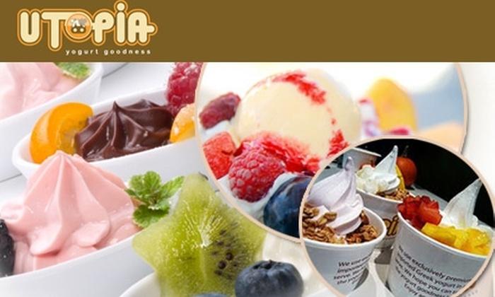 Utopia Frozen Yogurt - Pioneer Square: $5 for Two Medium, Three-Topping Yogurts from Utopia Frozen Yogurt ($10 Value)