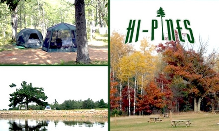 Hi-Pines Campground - Lincoln: Half Off a Two-Night Stay at Hi-Pines Campground (Up to $70 Value). Choose One of Four Rustic and RV Sites.