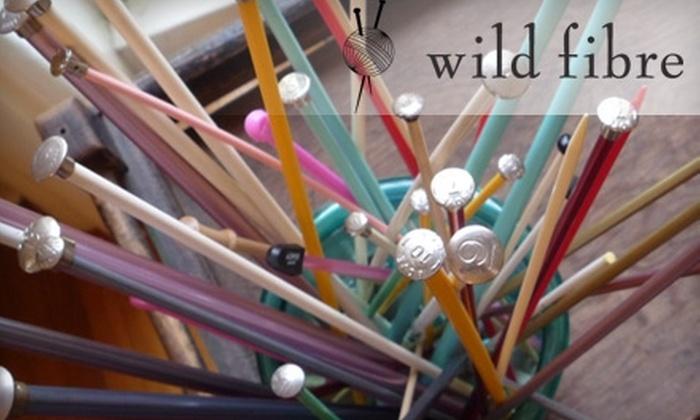 Wild Fibre - Savannah / Hilton Head: $17 for Beginning Knit or Beginning Scarf Class at Wild Fibre ($35 Value)
