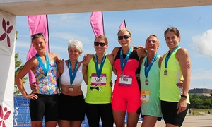 Iron Girl: Wellness Weekend Package for Iron Girl Pleasant Prairie Sprint Triathlon on August 8–9 (Up to 30% Off)