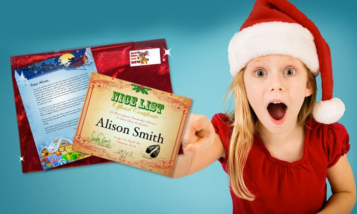 letter from santa letters from santa groupon