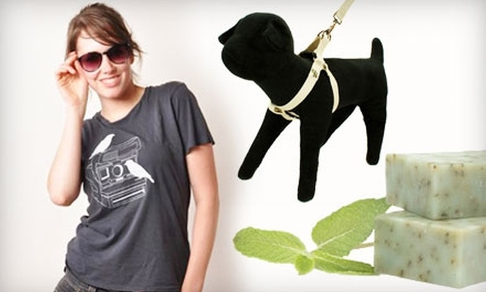 Green Rainbow Shop: $15 for $30 Worth of Eco-Friendly Apparel, Accessories, and Home Goods from Green Rainbow Shop