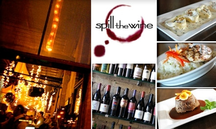 Spill the Wine - Downtown East: $60 Worth of Cuisine and Drinks at Spill the Wine