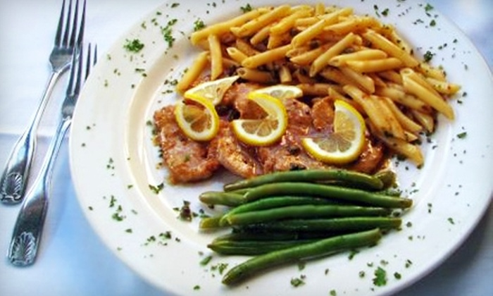 The Courthouse Grille - Plymouth: $20 for $45 Worth of Italian Dinner and Drinks at The Courthouse Grille in Plymouth