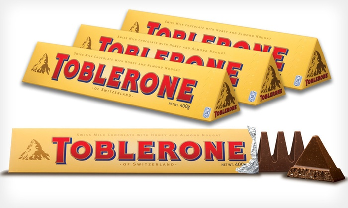 12-Pack of Toblerone Bars: $14.99 for a 12-Pack of 3.52 Oz. Toblerone Bars ($26.88 List Price)