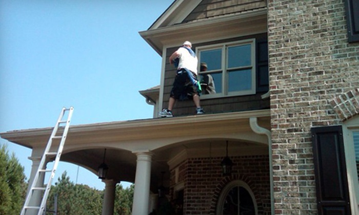 Window Genie - Des Moines: Window Cleaning or Pressure Washing from Window Genie. Two Options Available.