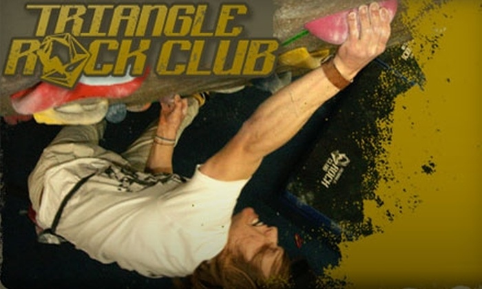 Triangle Rock Club - Morrisville: $50 for a Two-Hour Rock-Climbing Class and a One-Month Pass at Triangle Rock Club (Up to $125 Value)