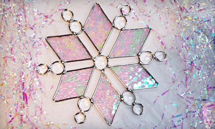 K.V. Glass Works - Winnipeg: $30 for a Three-Hour Stained-Glass Snowflake Workshop at K.V. Glass Works ($60 Value)