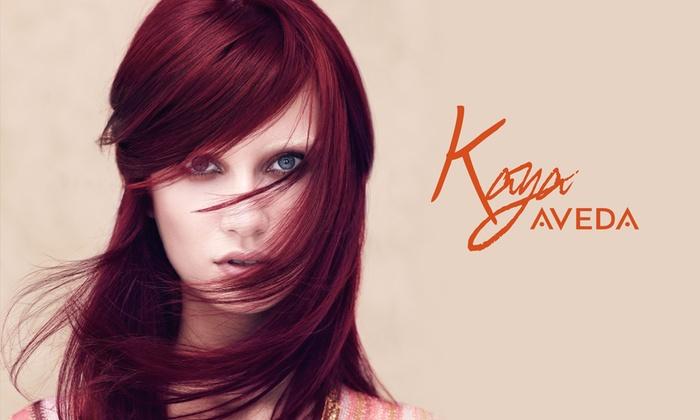 Kaya Aveda Salon Spa - New York: Single-Process Color or Partial or Full Highlights at Kaya Aveda Salon Spa (Up to 55% Off)
