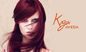 Kaya Aveda Salon Spa: Single-Process Color or Partial or Full Highlights at Kaya Aveda Salon Spa (Up to 51% Off)
