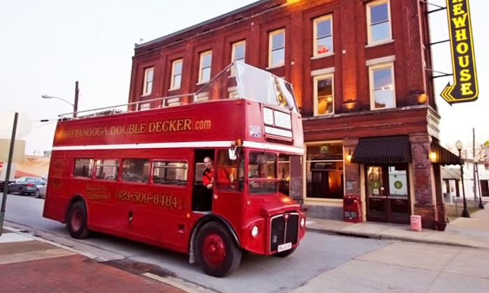 Chattanooga Double Decker - Downtown Chattanooga: Bus Tour for One or Two Adults from Chattanooga Double Decker (Up to 52% Off)