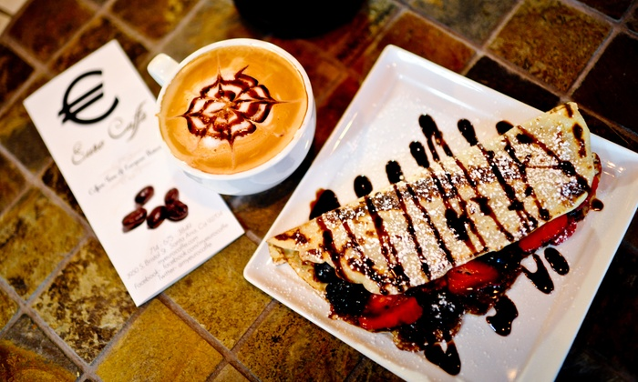 Euro Caffe - Costa Mesa: Sweet Crepes and Coffee at Euro Caffe (Up to 39% Off). Two Options Available.