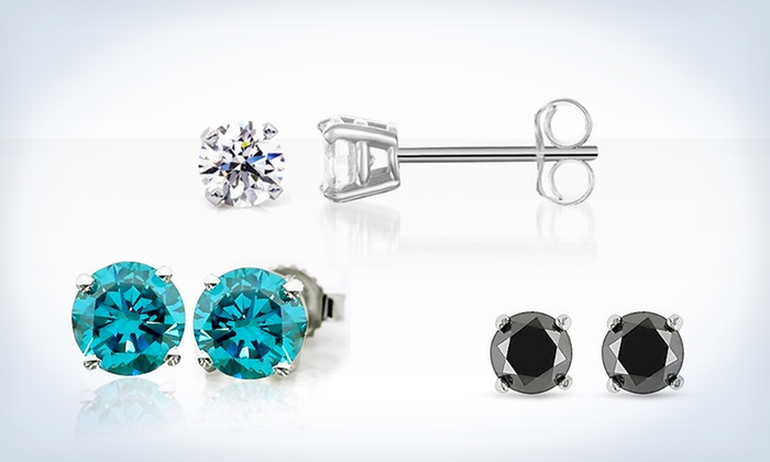 Diamond Stud Earrings: Diamond Stud Earrings (Up to 81% Off). Three Colors Available. Free Shipping and Returns.