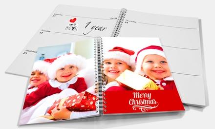Um ou duas agendas personalizadas tamanho A5 disponíveis nos modelos espiral ou em pele desde 6,95€