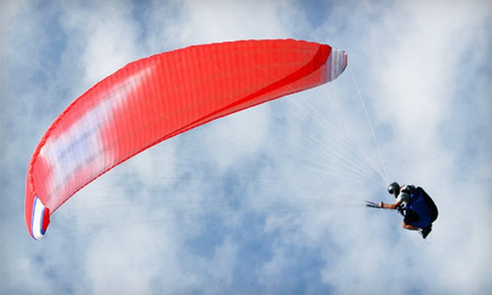 Blue Sky Virginia Hang Gliding - Manquin: Three-Hour Introductory Paragliding Lesson for One or Two at Blue Sky Virginia Hang Gliding (Up to 57% Off)