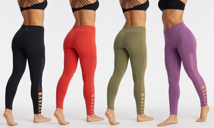 fd86321e1fb76 Marika Balance Collection Women's Mesh Cut-Out Leggings | Groupon