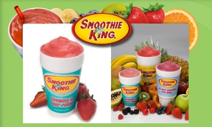 Smoothie King - Mount Pleasant: $6 for Three 20-Ounce Smoothies at Smoothie King (Up to $15 Value)