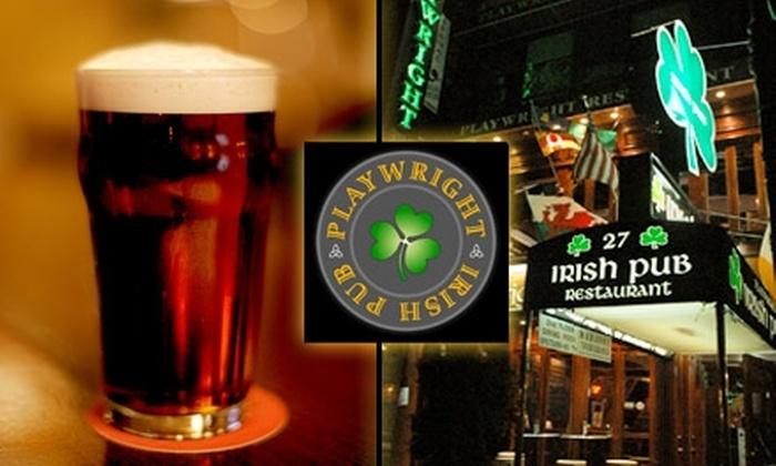 Playwright Irish Pub - Midtown South Central: $15 for $30 Worth of Pub Grub and Quality Drinks at Playwright Irish Pub