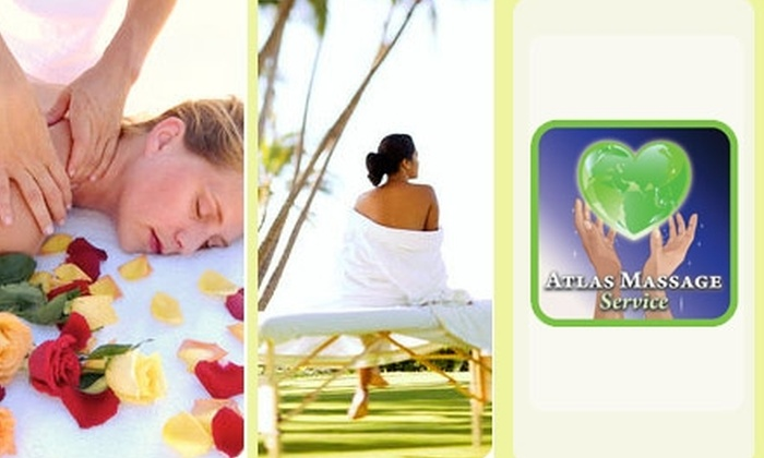 Atlas Massage Service - Plaza Terrace: $60 for Two 60-Minute Swedish Massages at Atlas Massage Service ($130 Value)