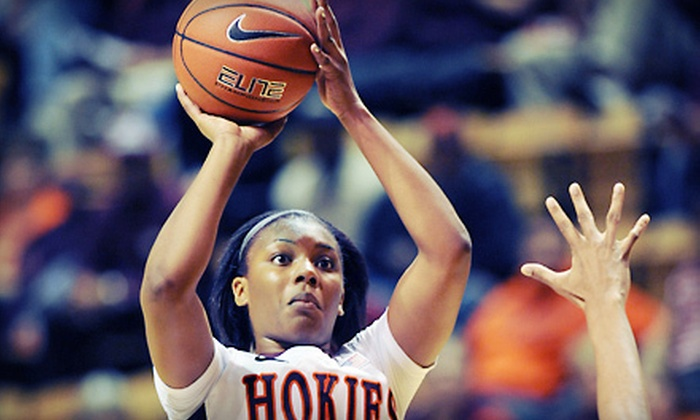 Virginia Tech Hokies - Downtown Eastside: Outing for Two or Four to Virginia Tech Women's Basketball Game vs. Virginia Cavaliers at Cassell Coliseum on February 19 (Up to 53% Off)