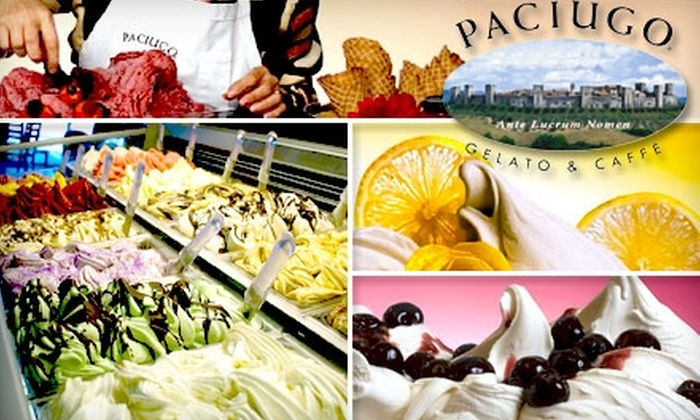 Paciugo - Multiple Locations: $5 for $10 Worth of Gelato, Coffee, and Other Frozen Treats at Paciugo