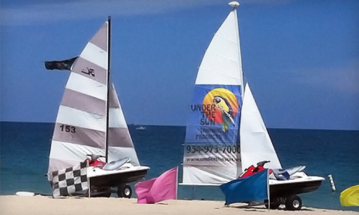 On The Beach Watersports - Fairfield: Sailing Lessons or Boat Rental from On the Beach Watersport in Pompano Beach (Up to 54% Off). Three Options Available.
