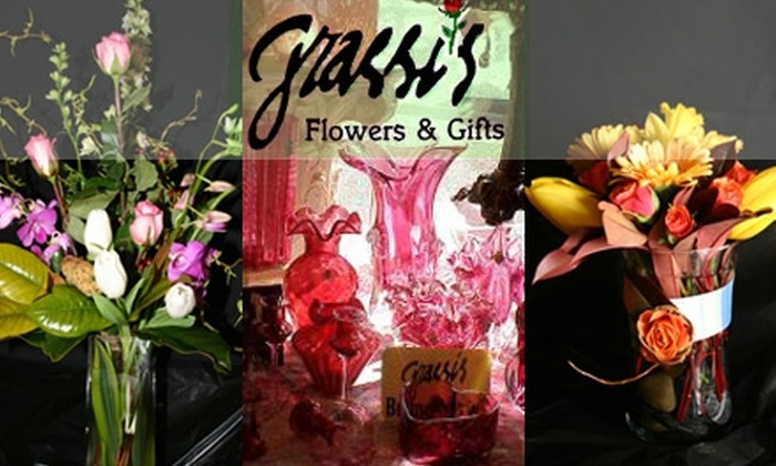 Grassi's Flowers & Gifts - Multiple Locations: $25 for $50 Worth of Flowers and Café Fare at Grassi's Flowers & Gifts
