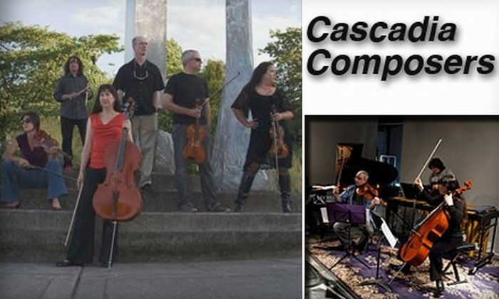 """Cascadia Composers - Downtown: $10 General-Admission Ticket to """"Cascadia Composers Present"""" ($20 Value). Buy Here for Friday, March 12, at 8 p.m. Click Below for Additional Dates and Times."""
