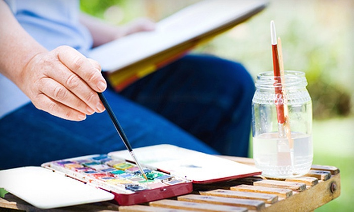 Guy St. Godard Art Studio - Glenwood: Introductory Watercolour Class for One or Two with Supplies at Guy. St. Godard Art Studio (Up to 56% Off)