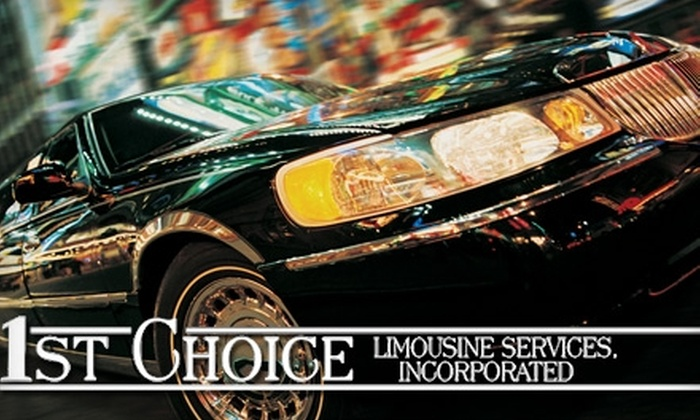 1st Choice Limousine Service Inc. - South Side: $50 for a One-Hour Limo Ride from 1st Choice Limousine Service Inc. (Up to $155 value)